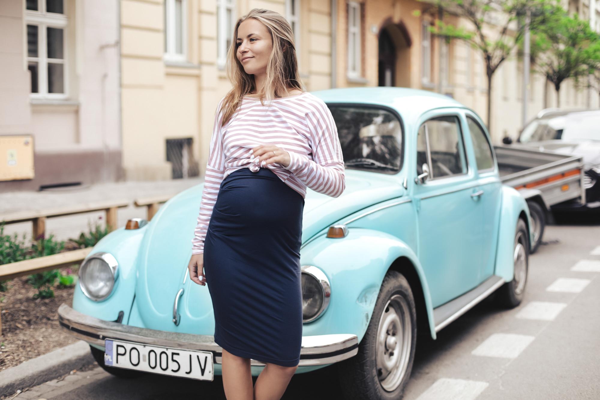 dopasowane ubrania ciążowe